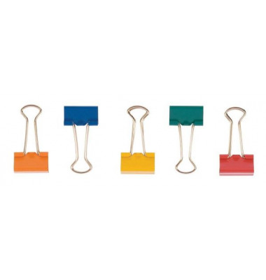 Foldbackklammern KF03653, 32mm, Metall farbig sortiert, 10 Stück