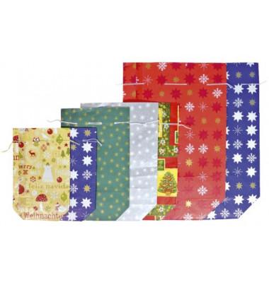 Geschenktragetasche für 1 Flasche farbig sortiert 12x10x36cm