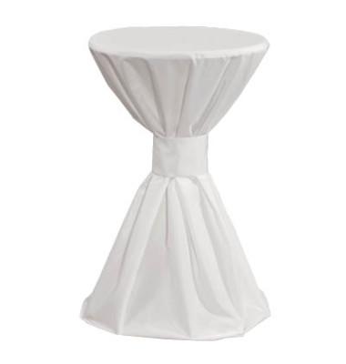 Tischdecke Überzug für Stehtische weiß Ø 70cm 08000001
