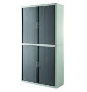 Aktenschrank easy Office E2CT0000300028, Kunststoff/Stahl abschließbar, 4 OH, 110 x 204 x 41,5 cm, anthrazit/grau