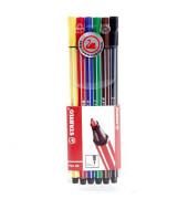 Fasermaler pen 68 6er Pack farbsortiert