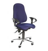 Bürodrehstuhl Sitness 10 mit Armlehnen blau
