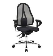 Bürodrehstuhl Sitness 15 schwarz mit Armlehnen