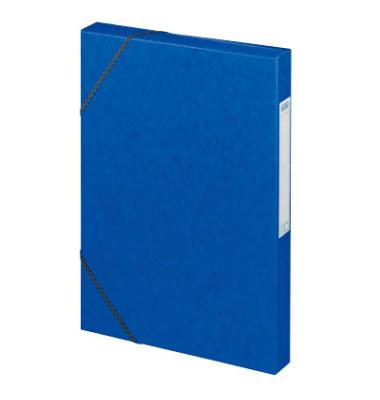 Sammelmappe Eurofolio 100200378, A4 Karton, für ca. 250 Blatt, blau