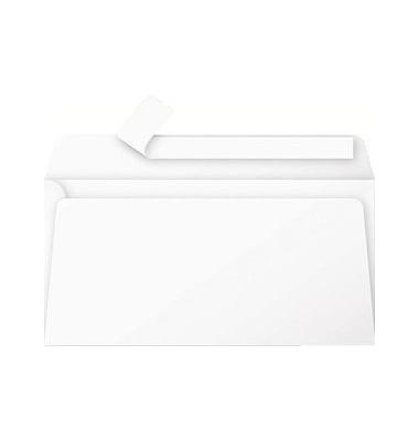 Designbriefumschläge Din Lang ohne Fenster haftklebend 120g weiß 20 Stück