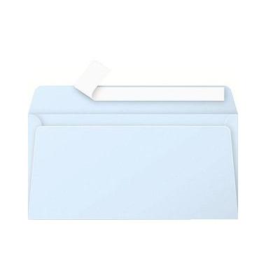 Designbriefumschläge Din Lang ohne Fenster haftklebend 120g blau 20 Stück