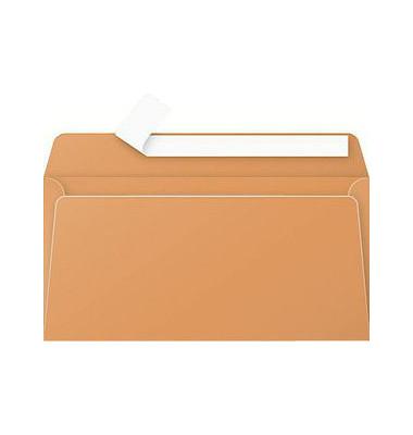 Designbriefumschläge Din Lang ohne Fenster haftklebend 120g clementine 20 Stück