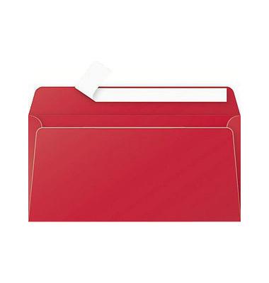 Designbriefumschläge Din Lang ohne Fenster haftklebend 120g kirschrot 20 Stück