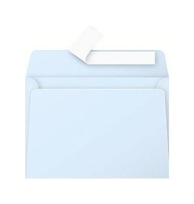 Designbriefumschläge C6 ohne Fenster haftklebend 120g blau 20 Stück