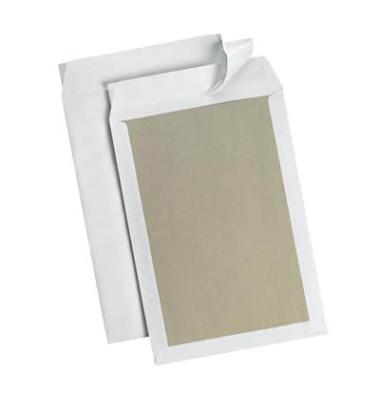 Versandtaschen B4 ohne Fenster mit Papprückwand haftklebend 120g weiß 10 Stück