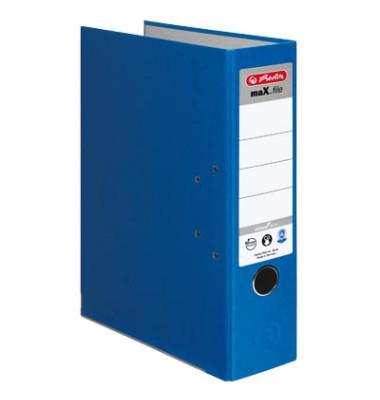 maX.file nature plus 10841393 blau Ordner A4 80mm breit