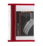 Reißverschlußtasche Velobag PP A5 110x205mm farblos/rot