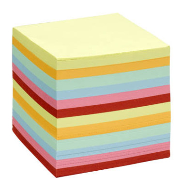 Notizzettel lose 9,0 x 9,0 cm in farbsortiert