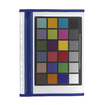 Reißverschlußtasche Velobag PP A4 183x290mm farblos/blau