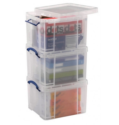 Aufbewahrungsboxen Spar Set transparent 3 x 35 l