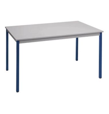 Mehrzwecktisch lichtgrau/blau rechteckig 70 x 60 x 74 cm