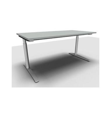 Schreibtisch All in One  1.028.100100 VC299596M grau rechteckig 160x80 cm (BxT) manuell höhenverstellbar