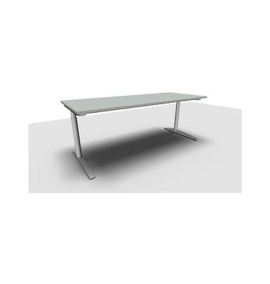 Schreibtisch All in One  1.028.107500 VC266906M grau rechteckig 200x80 cm (BxT) manuell höhenverstellbar