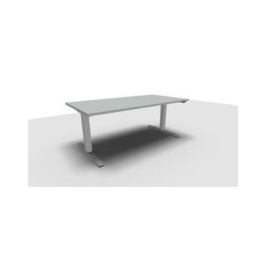 Schreibtisch All in One Move 1.028.100120 VC448118 ergonomisch grau rechteckig 160x80 cm (BxT) elektrisch höhenverstellbar