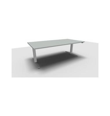 Schreibtisch All in One Move 1.028.100110 VC448112 ergonomisch grau rechteckig 180x80 cm (BxT) elektrisch höhenverstellbar