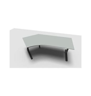 Schreibtisch All in One  1.028.206300 VC354003M grau Winkelform 217x113/80 cm (BxT) manuell höhenverstellbar