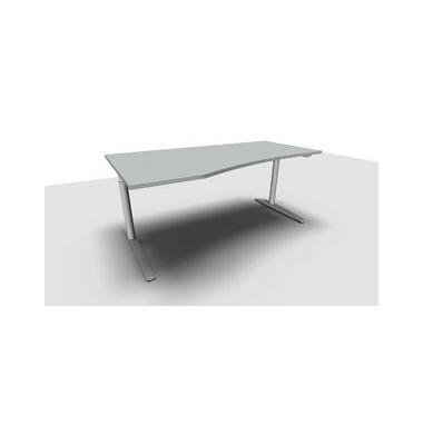Schreibtisch All in One  1.028.200601 VC299611 grau Freiform 180x100/80 cm (BxT) manuell höhenverstellbar