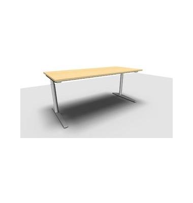 Schreibtisch All in One  1.028.100000 VC299601 ahorn rechteckig 180x80 cm (BxT) manuell höhenverstellbar