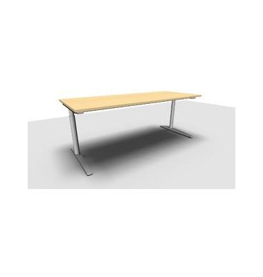 Schreibtisch All in One  1.028.107500 VC299605 ahorn rechteckig 200x80 cm (BxT) manuell höhenverstellbar