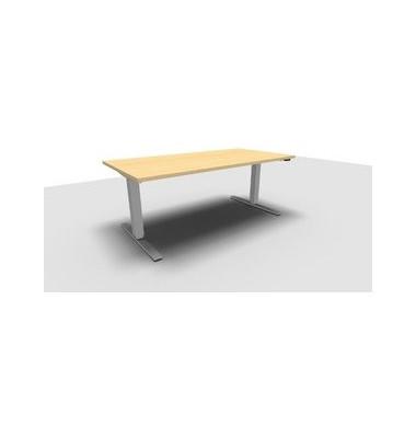 Schreibtisch All in One Move 1.028.100120 VC441846 ergonomisch ahorn rechteckig 160x80 cm (BxT) elektrisch höhenverstellbar