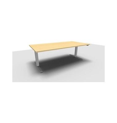 Schreibtisch All in One Move 1.028.100110 VC448143M ergonomisch ahorn rechteckig 180x80 cm (BxT) elektrisch höhenverstellbar
