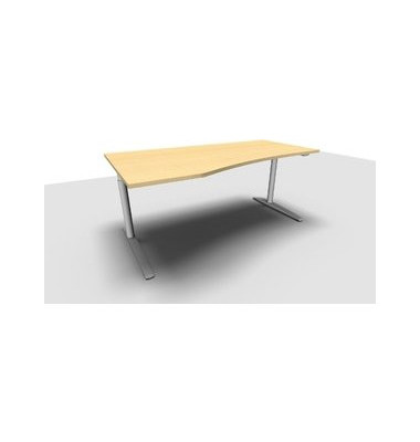 Schreibtisch All in One  1.028.200601 VC299612 ahorn Freiform 180x100/80 cm (BxT) manuell höhenverstellbar