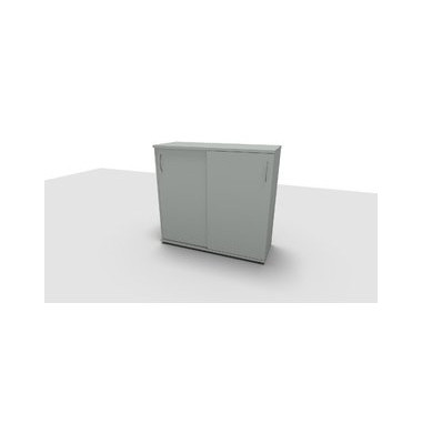 Aktenschrank ClassicLine 1.028.315024 VC276703, Holz/Stahl abschließbar, 3 OH, 120 x 113 x 44,2 cm, lichtgrau