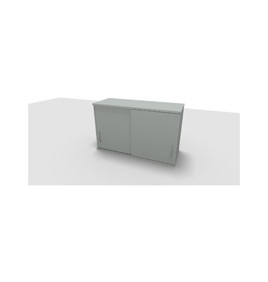 Aufsatzaktenschrank ClassicLine 1.028.215124 VC208507, Holz abschließbar, 2 OH, 120 x 73,6 x 44,2 cm, lichtgrau