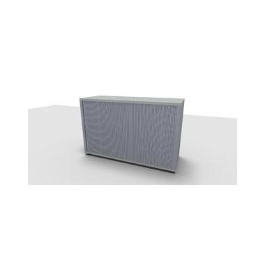 Aktenschrank ClassicLine 1.028.321024 VC197364, Kunststoff/Holz abschließbar, 2 OH, 120 x 78 x 44,2 cm, lichtgrau