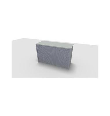 Aufsatzaktenschrank ClassicLine 1.028.220124 VC625561M, Kunststoff/Holz abschließbar, 2 OH, 120 x 73,6 x 44,2 cm, inkl. Montage