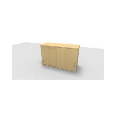 Aufsatzaktenschrank ClassicLine 1.028.215124 VC466038M, Holz abschließbar, 2 OH, 120 x 73,6 x 44,2 cm, inkl. Montage, ahorn