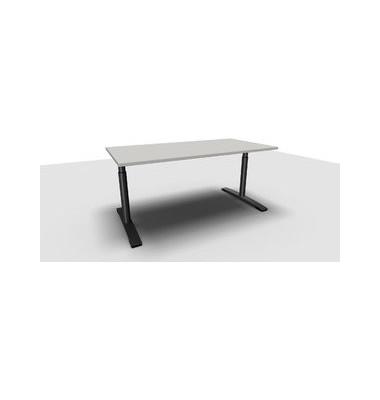 Schreibtisch Jump TN0018-4G2JGA1A1I4I4V0U0 grau rechteckig 160x80 cm (BxT) manuell höhenverstellbar