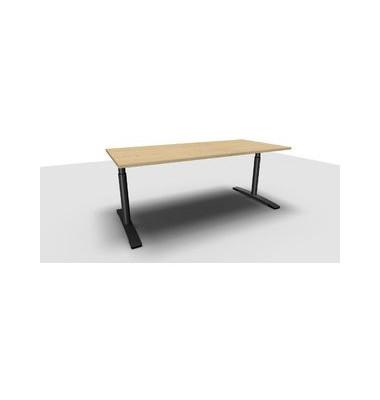 Schreibtisch Jump TN0022-4G2JGA9A9I4I4V0U0 ahorn rechteckig 180x80 cm (BxT) manuell höhenverstellbar