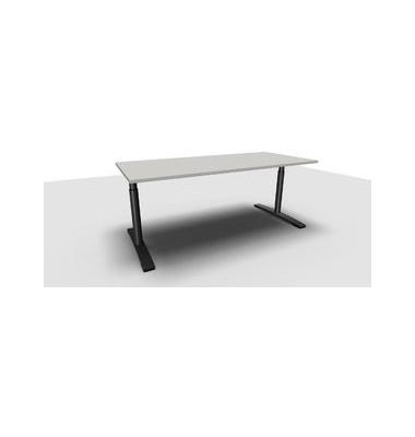 Schreibtisch Jump TN0022-4G2JGA1A1I4I4V0U0M grau rechteckig 180x80 cm (BxT) manuell höhenverstellbar