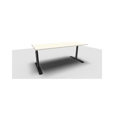 Schreibtisch Jump TN0022-4G2JGW3W3I4I4V0U0 weiß rechteckig 180x80 cm (BxT) manuell höhenverstellbar