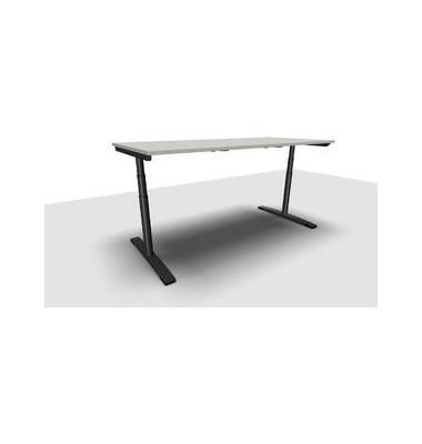 Schreibtisch Jump Move TR0026-4G3PGA1A1I400T1U0M ergonomisch grau rechteckig 200x90 cm (BxT) elektrisch höhenverstellbar