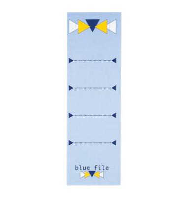 Rückenschilder blue file 60 x 190 mm hellblau zum aufkleben 10 Stück