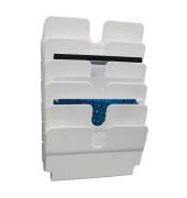Prospektwandhalter Flexiplus 1700014011 weiß für DIN A4 quer