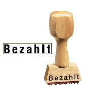 Holz - Textstempel Bezahlt