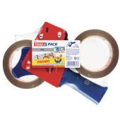 Packbandabroller Tesapack 57108-00000-01, mit Bremse, mit 2x Packband 50mm x 66m