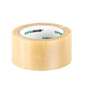 Packband SUPRABAND 100030, 50mm x 66m, PVC, leise abrollbar, transparent