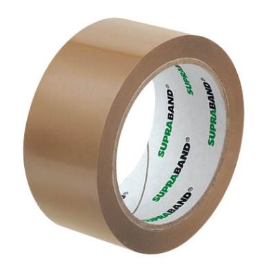 Packband SUPRABAND 100019, 50mm x 66m, PVC, leise abrollbar, braun