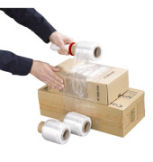 Stretchfolien-Set Winwrap 9cm x 150m transparent 12µm Kern-Ø 38mm mit Handabroller