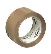 Packband SUPRAPRO 100172, 50mm x 66m, PP, leise abrollbar, braun