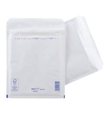 Luftpolstertaschen Classic No. W5, 2FVAF000105, innen 220x265mm, haftklebend + Lochung für Klammer, weiß